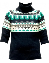 Lightning bolt camisola knitted sweater