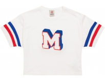 Franklin & marshall t-shirt cropped applique w