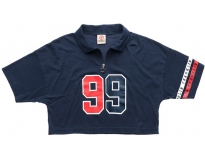 Franklin & marshall polo cropped print w